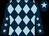 Dark blue and light blue diamonds, dark blue sleeves, light blue stars, dark blue cap, light blue star (The Blue Harlequin Racing Club)