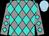 Grey, turquoise diamonds, light blue cap (McEwan, Fred, J)