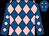 Royal blue, pink diamonds (Keith Brackpool)