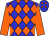 Blue, orange diamonds, orange sleeves (Empire Racing Stables, Llc And Rollingson Racing Stable)