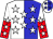 White & blue halved, white stars, red halved sleeves, white stars (Eikleberry, Kevin And Yother, J Lloyd)