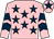 Pink, dark blue stars, chevrons on sleeves, pink cap, dark blue star (Mr Matthew Gavin)