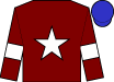 Maroon, white star and armlets, blue cap (Gigginstown House Stud)