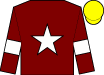 Maroon, white star & armlet, yellow cap (Gigginstown House Stud)