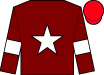 Maroon, white star and armlets, red cap (Gigginstown House Stud)