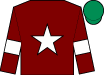 Maroon, white star & armlet, emerald green cap (Gigginstown House Stud)