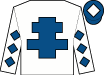 WHITE, royal blue cross of lorraine, diamonds on sleeves, royal blue cap, white diamond (Brian Gleeson)