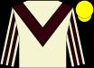Beige, brown chevron, striped sleeves, yellow cap (B Cunningham)