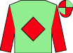 Light green, red diamond & sleeves, quartered cap (Munnelly Support Services Ltd)