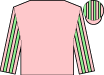 Pink, pink & light green striped sleeves, striped cap (Mrs Z Wentworth)