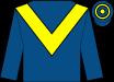 Royal blue, yellow chevron, hooped cap (Dove Coat Syndicate)