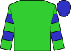 Lime green, blue hoops on sleeves, blue cap (Loooch Racing Stables, Inc)
