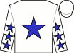 White, blue star, blue stars on sleeves, white cap (Olympia Star, Inc)