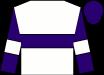 White, purple hoop, white armlet on purple sleeves, purple cap (Reddam Racing Llc)