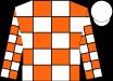 Orange and white blocks, white cap (Wilson, Holly And David)