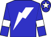 Blue, white lightning bolt, white armlets on blue sleeves, white star on blue cap (Happy Project Syndicate)