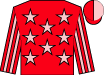 Red, pink stars, red & pink striped sleeves, red & pink halved cap (Funs Of Family Racing Syndicate)