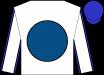 White, Royal Blue Ball, Blue Seams On Sleeves, Blue Cap (Gatsas Thoroughbreds LLC)