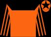 Orange, black yoke, black stripes on sleeves, orange cap, black star (Toscano, Robert)