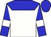 White, blue yoke, white bars on blue sleeves, blue cap (Nicholas Alexander)