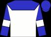 White, blue yoke, white bars on blue sleeves, blue cap (Nicholas Alexander)