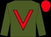 Forest green, crimson v-sash, crimson cap (Team Valor International And Naify, Marsha)