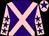 Purple, pink cross belts, pink sleeves, purple stars, pink cap, purple star (Clare Smith & Karen George)