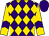 Purple, gold diamonds, purple chevron on gold sleeves, purple cap (Big Chief Racing, Llc, Rocker O Ranch, Llc, Detmar, W , Desormeaux, J , Voss, G)