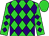 Lime, purple diamonds, lime cap (Honors Stable Corp)