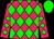 Rose body, big-green diamonds, rose arms, big-green diamonds, big-green cap (H Audoy)