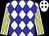 White, blue diamonds, yellow stripes on sleeves (Donald Blankenship)