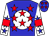 Blue, White disc, Red Stars, Blue Stars On On White Sleeves, red armlets (Israel Leal)