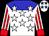 White, blue yoke, white stars, red stripes on sleeves, red cuffs (Richard Scott)