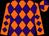 Orange And Purple Diamonds, Orange Sleeves, Purple Diamonds, Orange And Purple quartered Cap (Robyn Thompson)