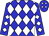Blue, white diamonds (Hillburn Racing Stable Llc)