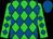 Lime, royal blue diamonds, royal blue cap (Laurie Moore)