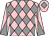 Pink and grey diamonds, diabolo on sleeves, pink cap, grey diamond (D & M Macdonald & M & M McPherson)