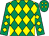 Emerald green & yellow diamonds (Just A Party Syndicate)