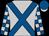 Silver, royal blue crossed sashes, checked sleeves, royal blue cap, silver peak (Tni Racing Trust (nom: Mr S Naidoo))