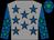 Grey, royal blue stars, royal blue sleeves, emerald green stars, royal blue cap, emerald green star (Walters, Bennett, Martin & Higgs)