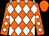 Orange, white diamonds, white diamonds on sleeves, orange cap (Take A Shot Llc)