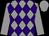 Grey and purple diamonds, grey sleeves and cap (Global Racing Club & Mrs E Burke)