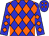 Blue, black, grey, green, orange diamonds (Kcmh Racing Llc)