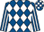 Royal blue and white diamonds, striped sleeves, check cap (Roalco Limited)