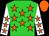 Lime, orange stars, orange stars on white sleeves, orange cap (Mike Walker)