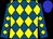 Royal blue, yellow diamonds, blue cap (All Schlaich Stables Llc, C T R Stables Llc, Gatto Racing Llc, Hollendorfer Llc)