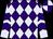 Purple and lavender diamonds, lavender sleeves, purple chevrons, purple and lavender quartered cap (Harold Lerner Llc, Awc Stables, Akman, Scott K And Nehoc Stables)