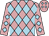 Peach, light blue diamonds (Marquis, Charles K And Marquis, Cynthia F)