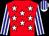 Red, white stars, white and blue striped sleeves and cap (Avontuur Estate (pty) Ltd (nom: Mr M J B Taberer))