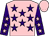 Pink, purple stars, purple sleeves, pink stars and cap (Mr Wayne Smith)